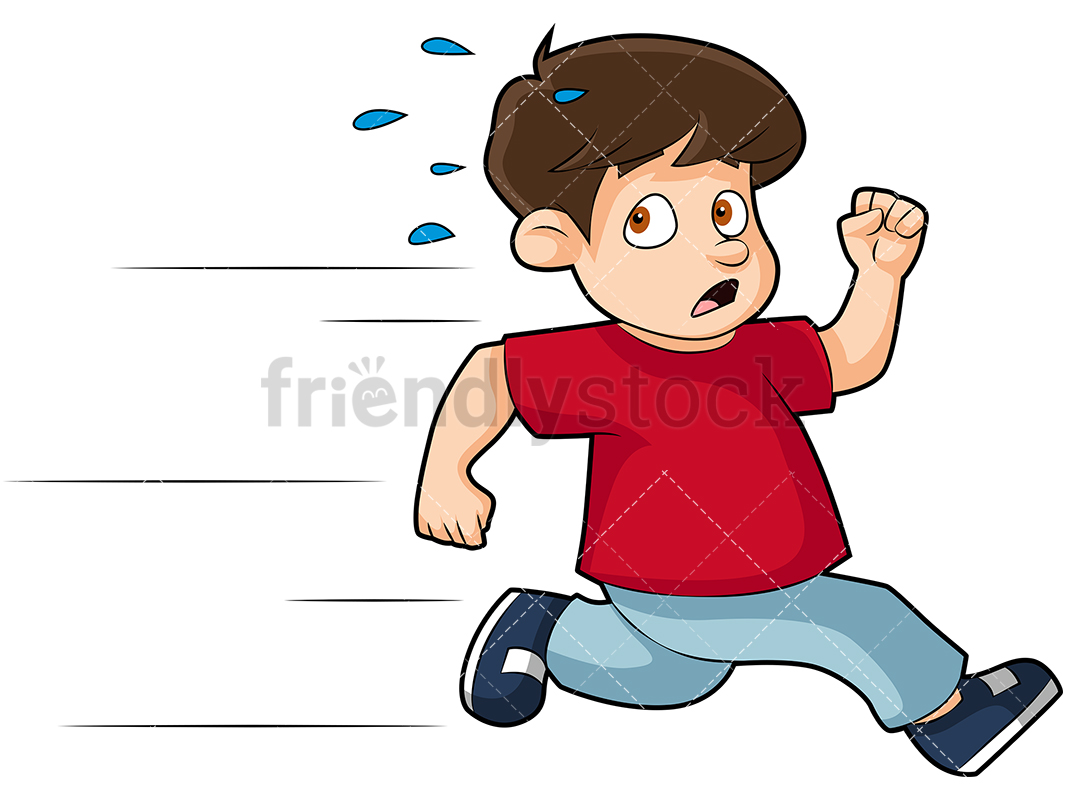 Boy Running Away Clipart.