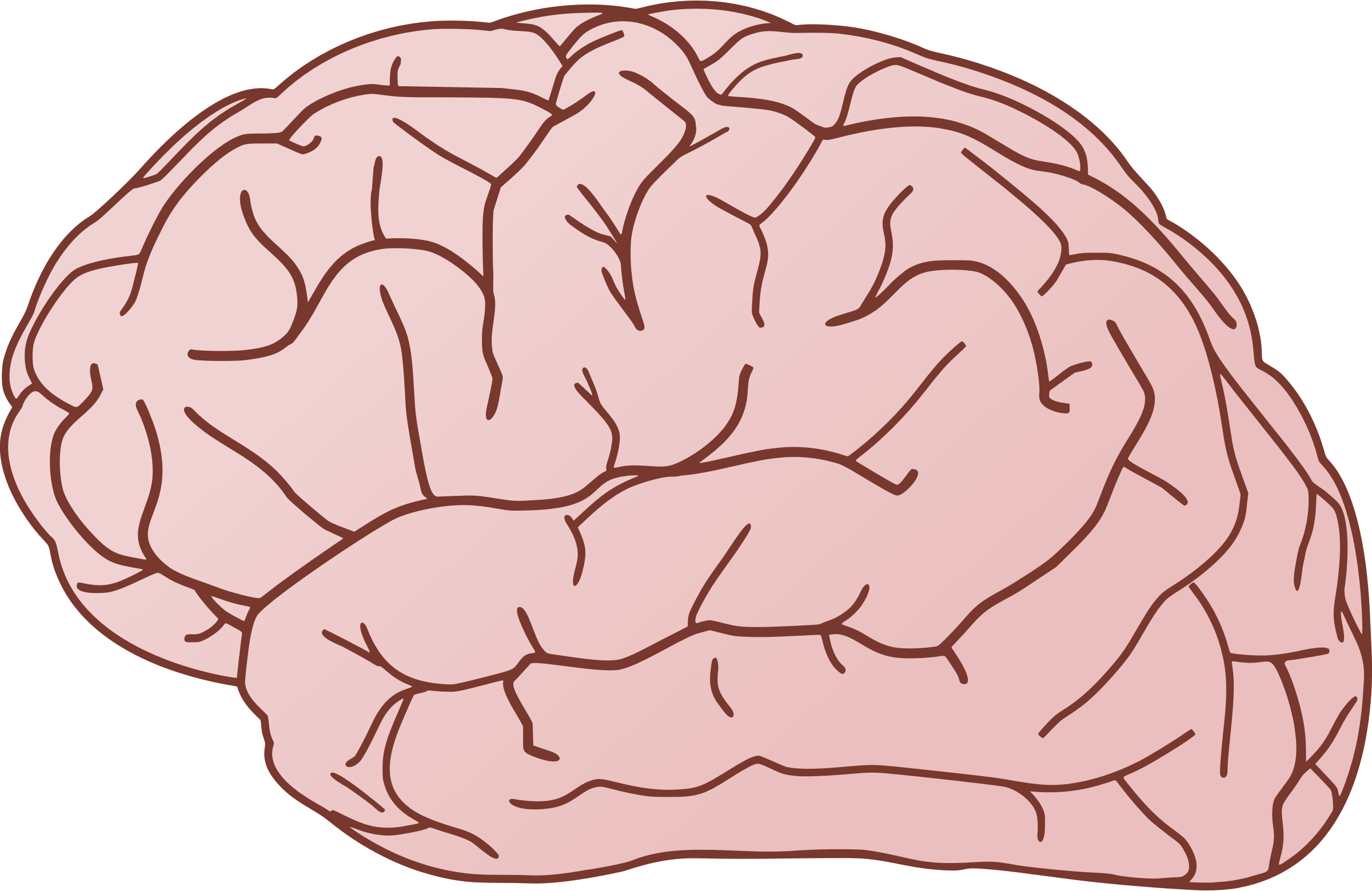 Clipart Brain exterior side view.