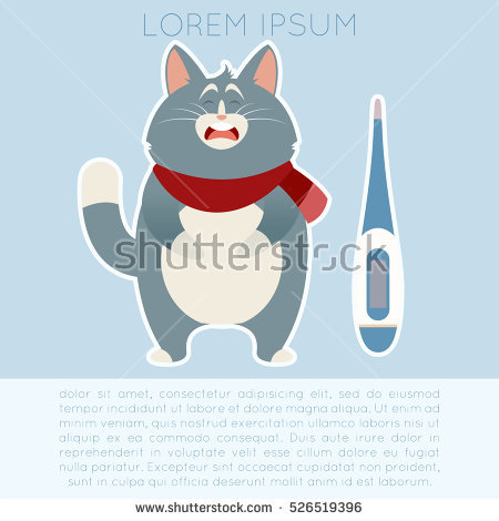 Sick Cat Stock Images, Royalty.
