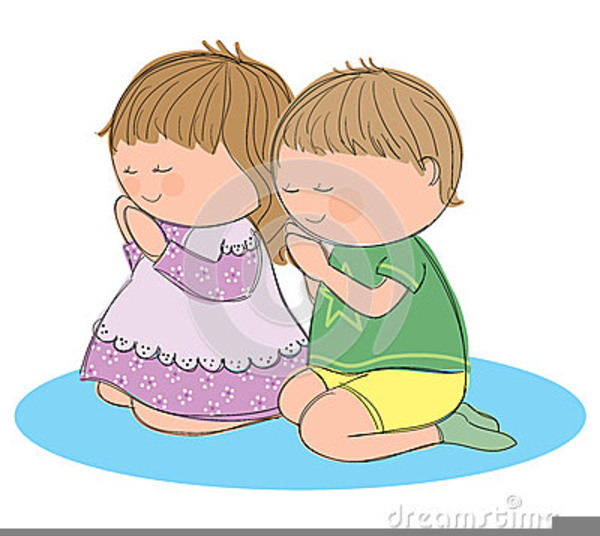 Christian Clipart Child Praying.