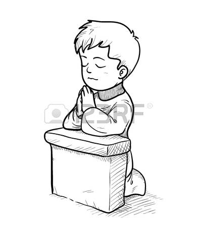 Praying Clipart Black And White & Free Clip Art Images #10494.