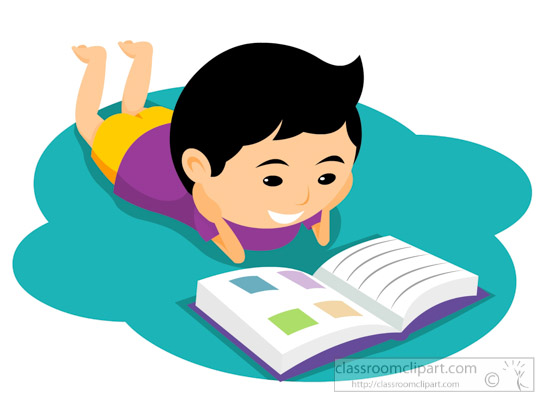 Child reading book on floor clipart » Clipart Station.