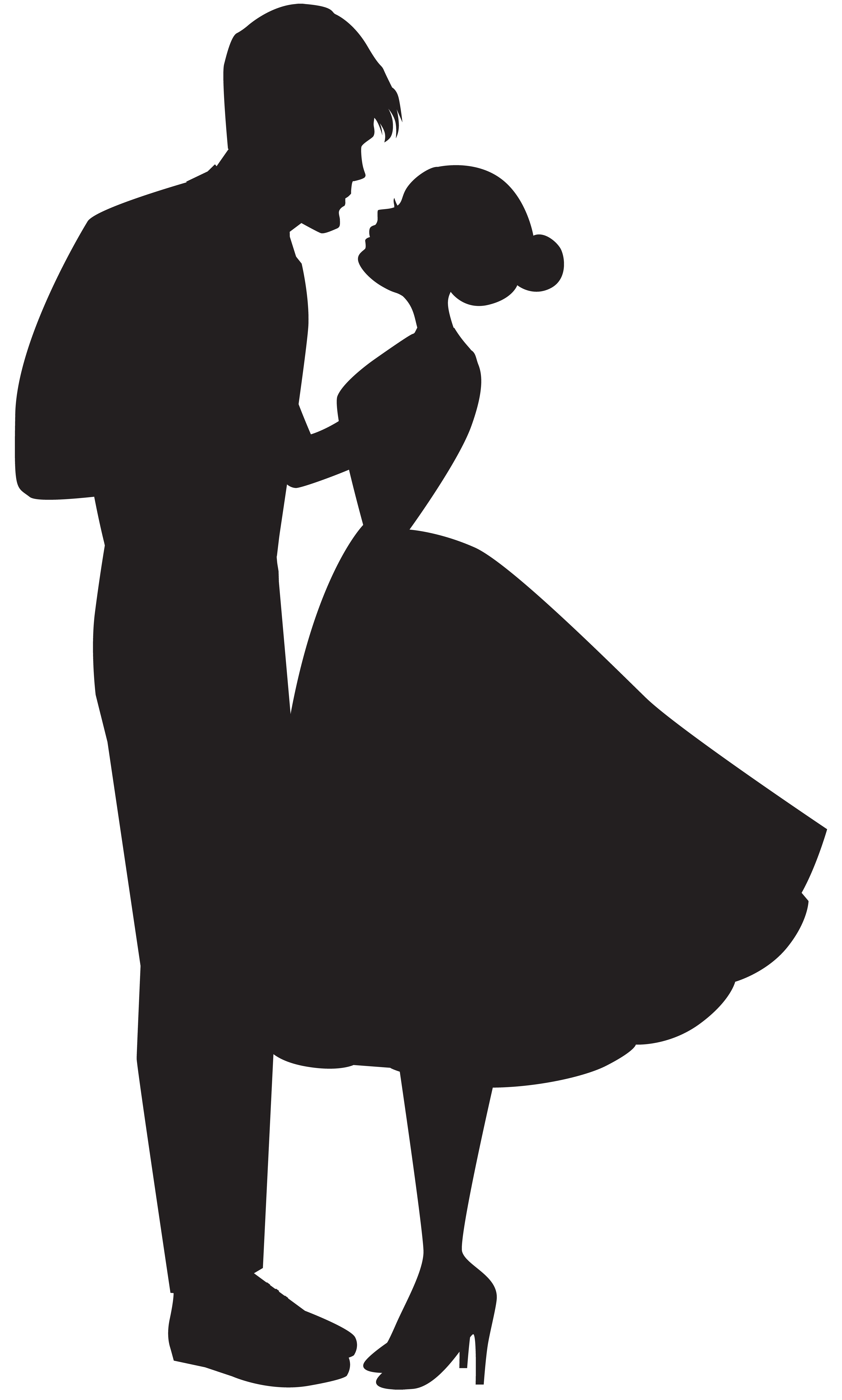 Love Couple Silhouette PNG Clip Art.