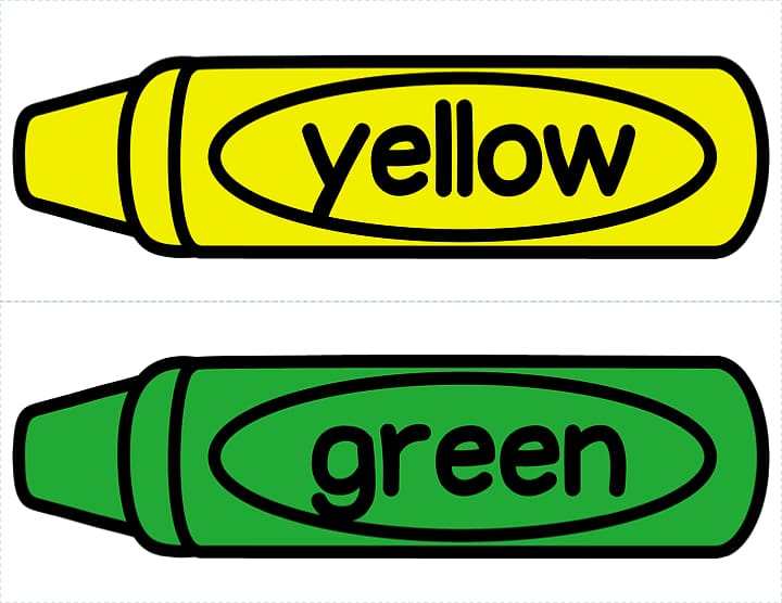 Yellow and green crayons, Crayon Colored pencil Crayola , Green.