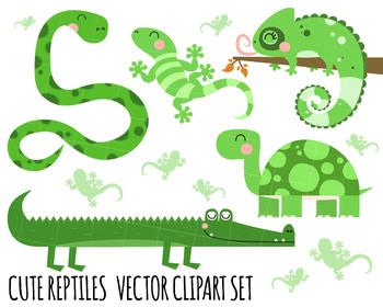 Clipart Reptiles, Tortoise Clipart, crocodile clipart, snake clipart, lizard.