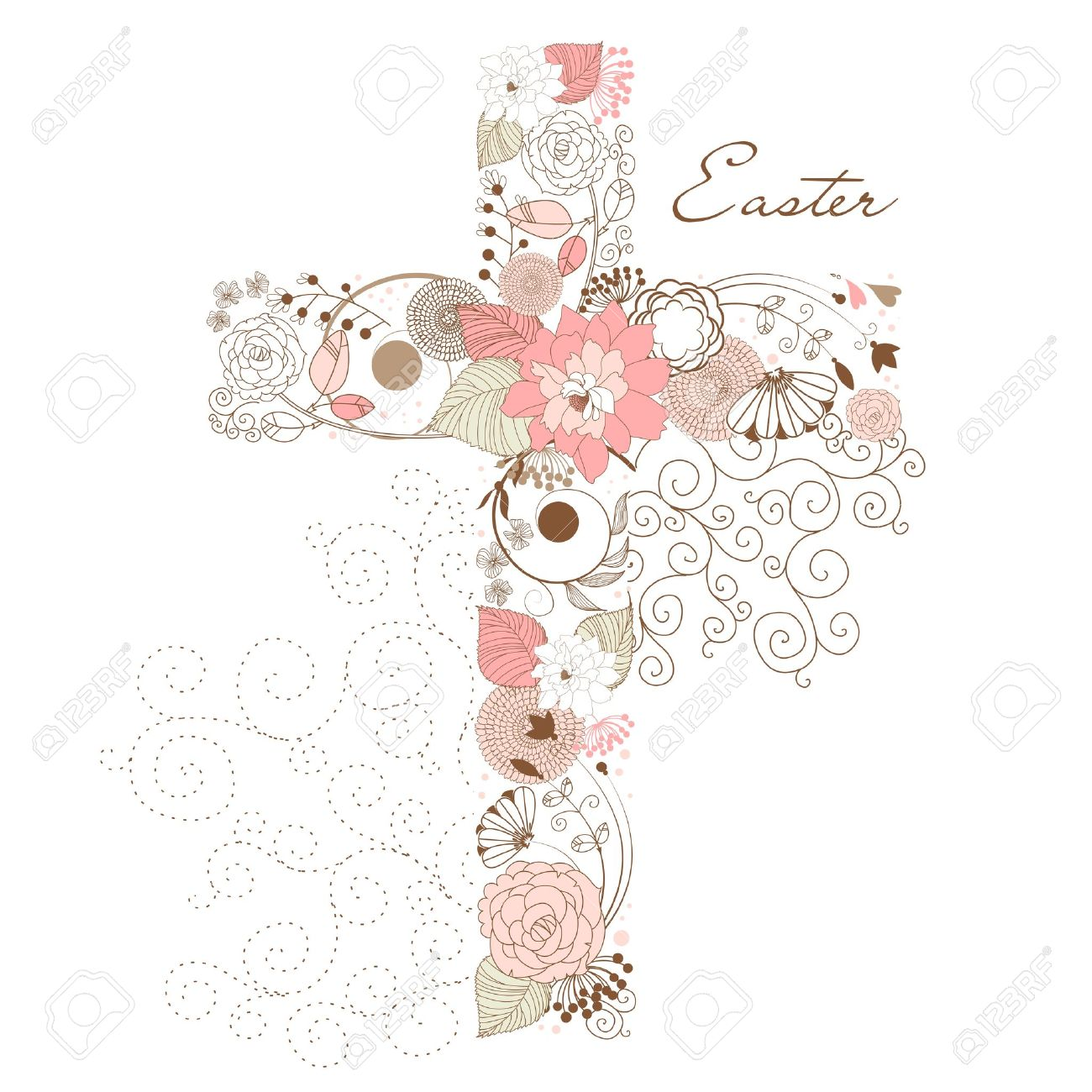 Clipart cross with flowers 1 » Clipart Station.