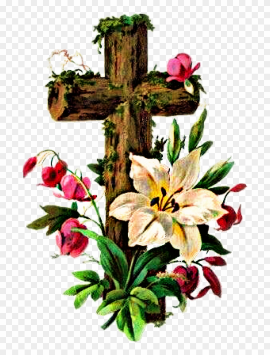 Cross Images With Flowers Clipart (#1571217).
