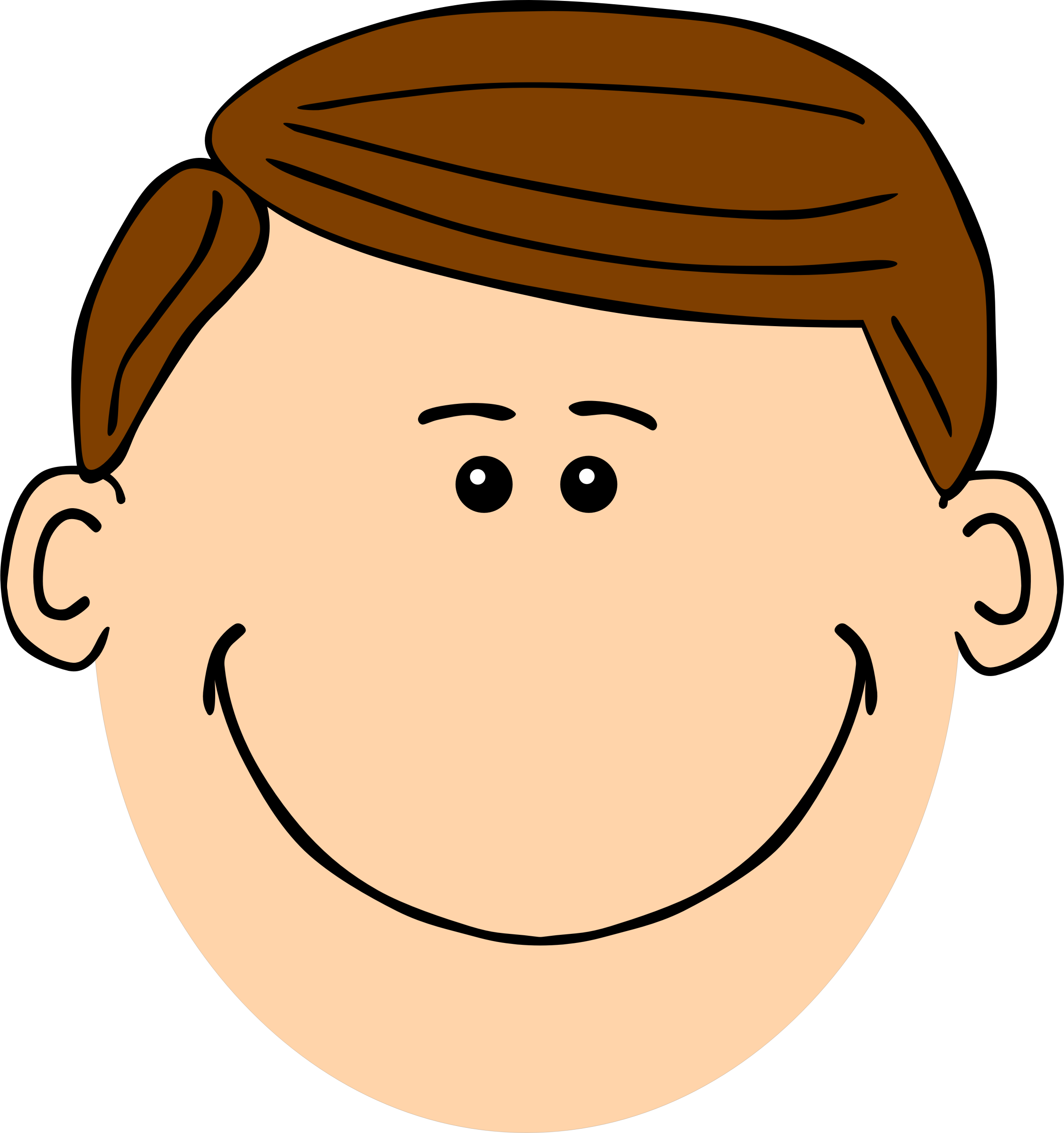 Dad Face Clipart.