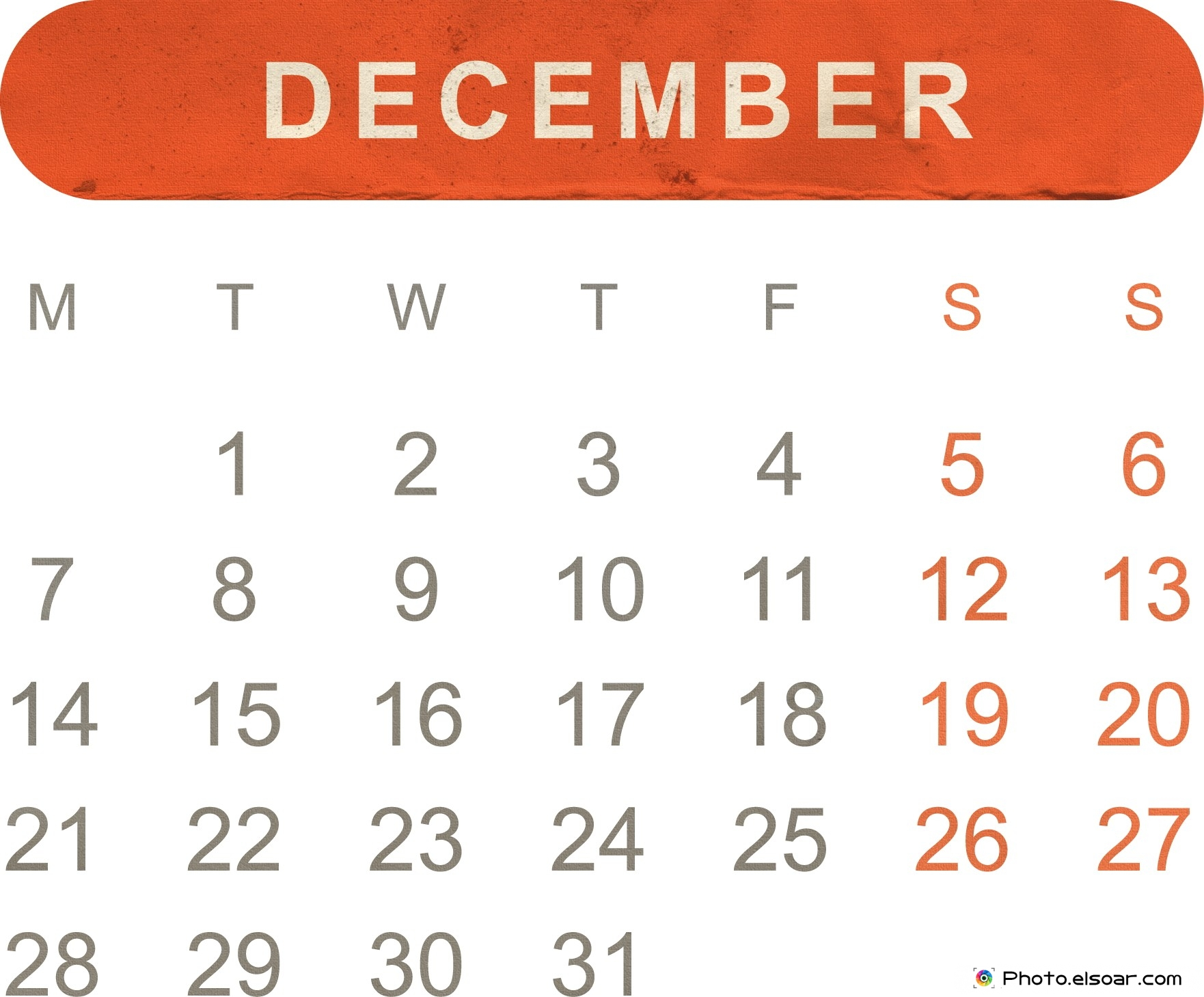 Free Printable Monthly Calendar 2015.