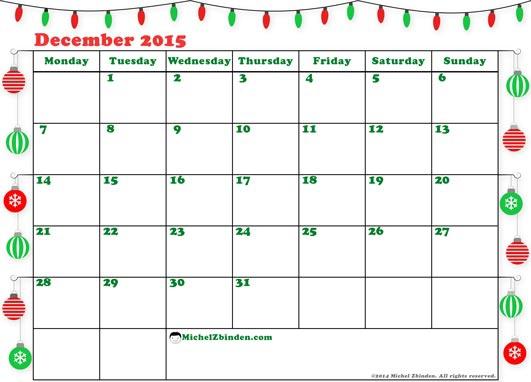 December 2015 Calendar Clipart#2237512.