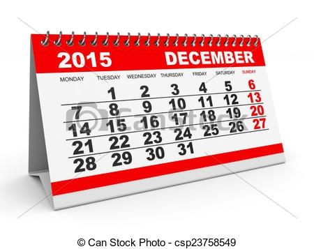 December 2015 Calendar Clipart#2237514.