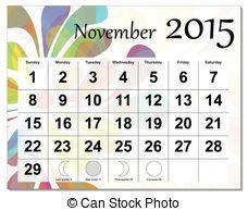 Clipart Vector of December 2015 calendar..