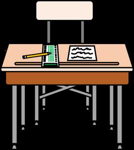 239 desk free clipart.