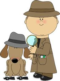 Image result for cartoon detective boy with magnifying glass.