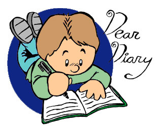 Diary Writing Clipart.