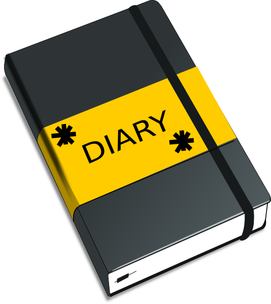 Diary Entry Clipart.
