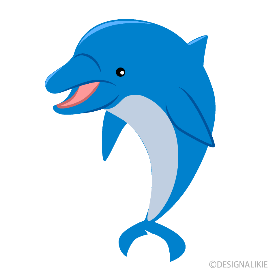 Free Greeting Dolphin Clipart Image|Illustoon.