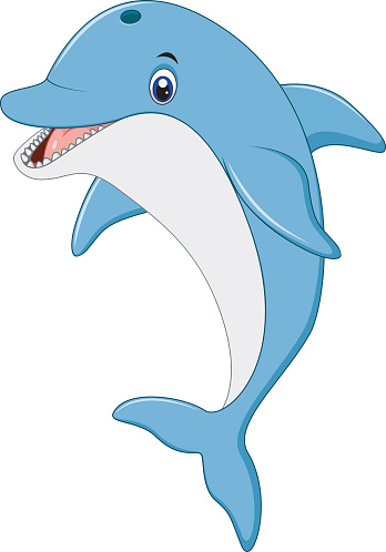 4157 Dolphin free clipart.