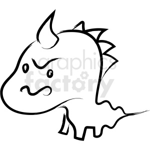 cartoon dragon drawing vector icon clipart. Royalty.