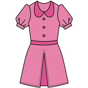 Pink Dress clipart, cliparts of Pink Dress free download.