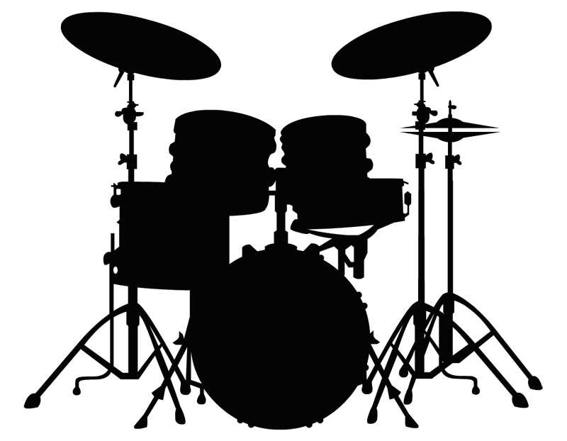 Drum Set PNG Black And White Transparent Drum Set Black And White.