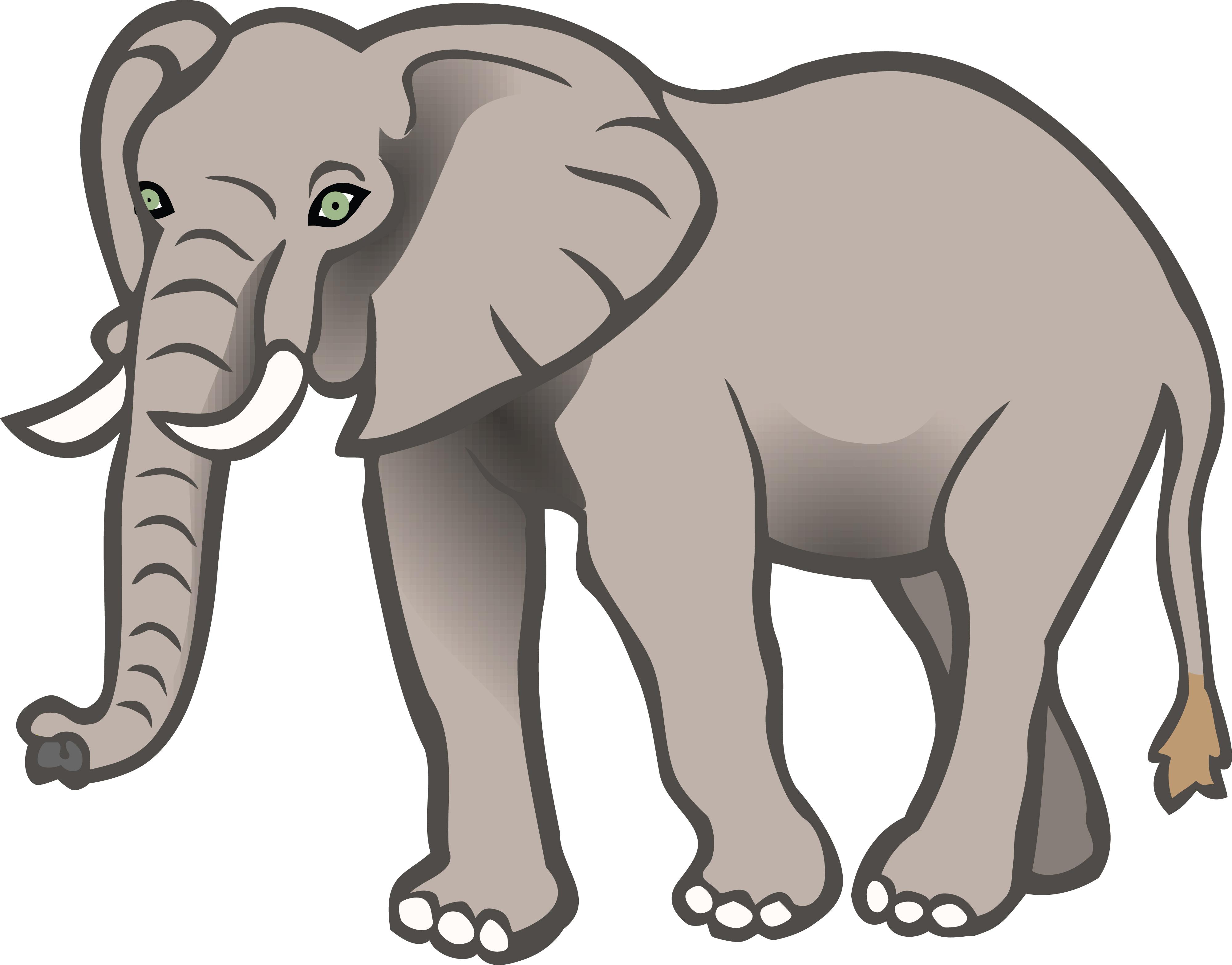 16615 Elephant free clipart.