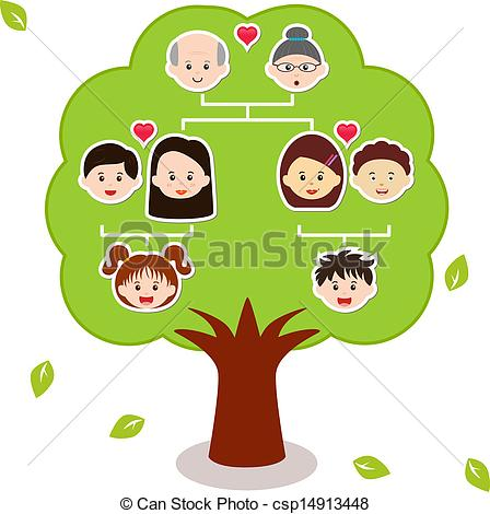 Simple Family Tree Clipart.