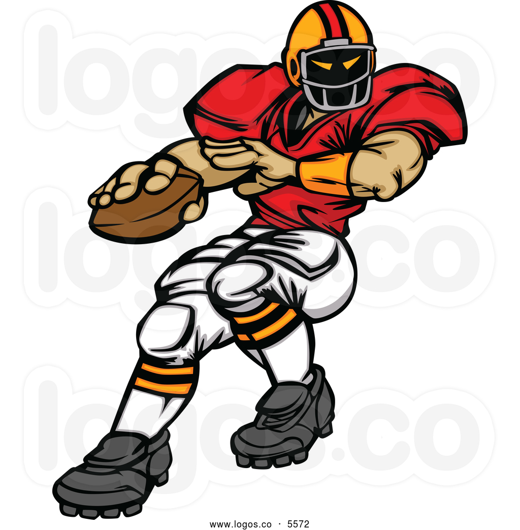 American Football Player Clipart.