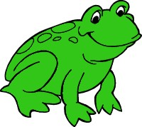 8468 Frog free clipart.