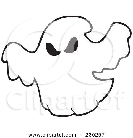 Ghosts Clipart Outline.