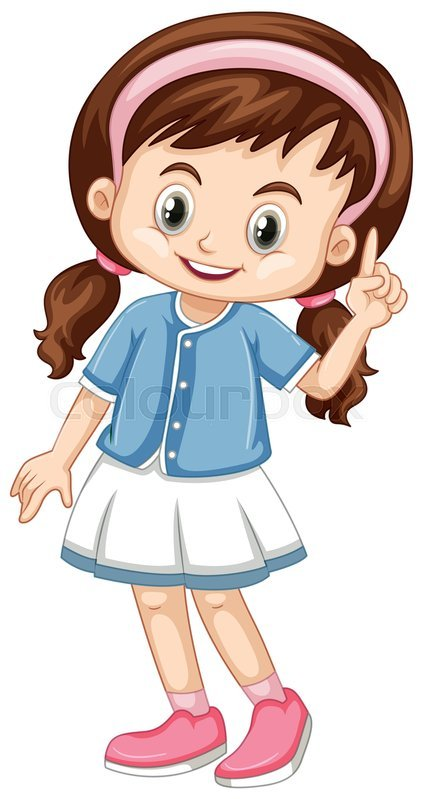 A girl pointing clipart 8 » Clipart Portal.