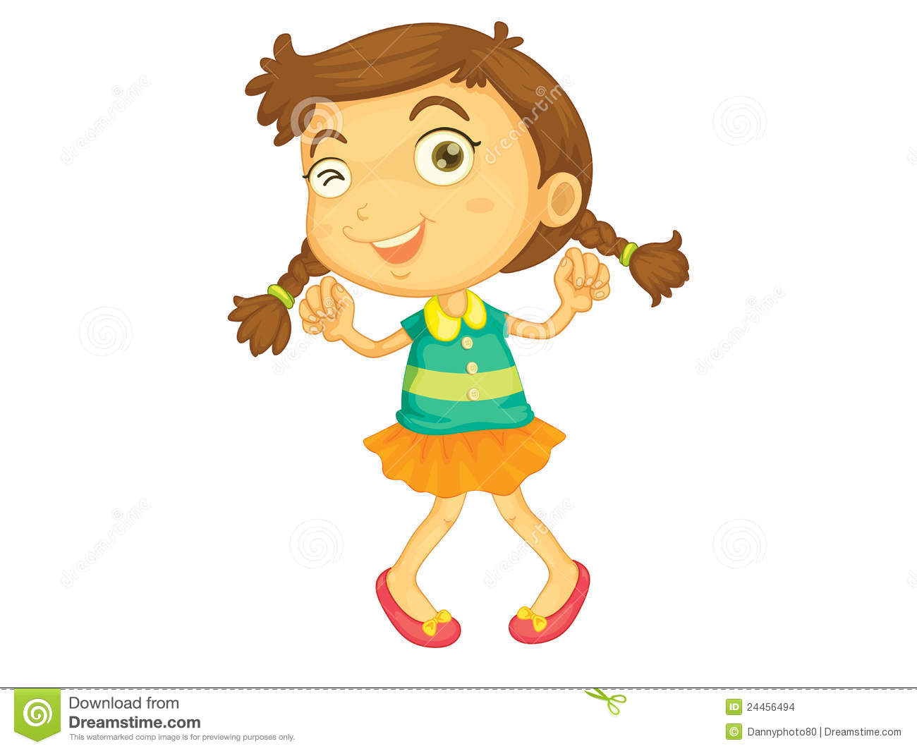 Dancing girl stock vector. Illustration of clipart, young.