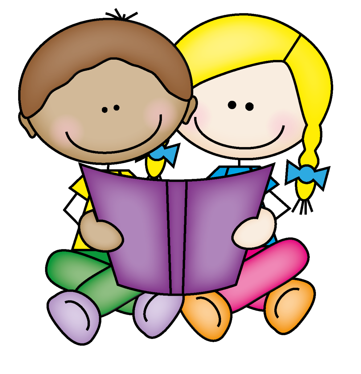 Clipart of girl with books.