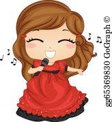 Girl Singing Clip Art.