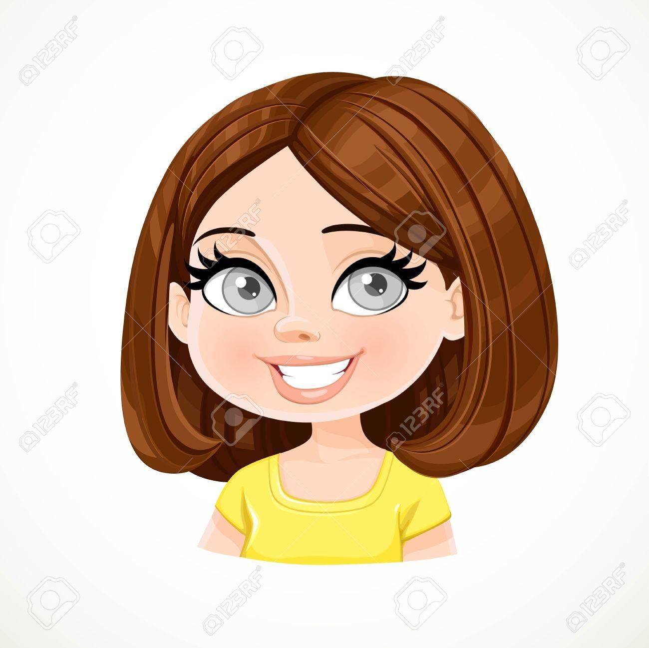 Short Brown Hair Clipart.
