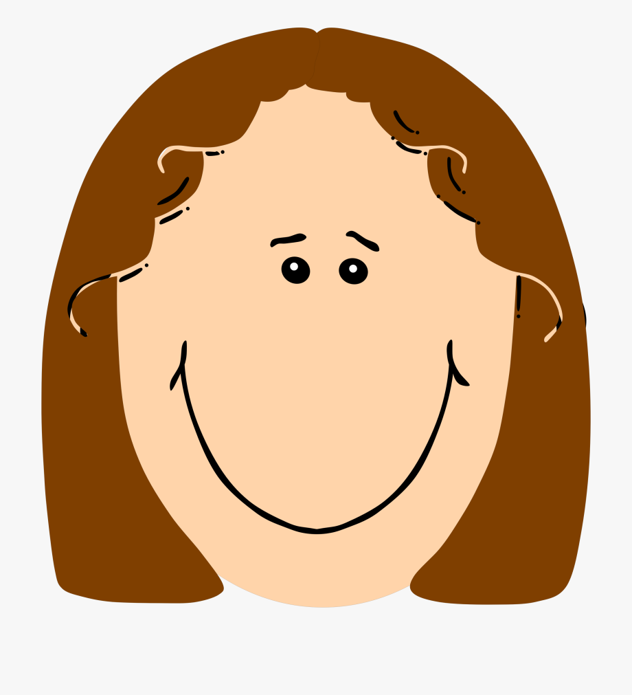 Girl With Brown Hair Medium Image Png.