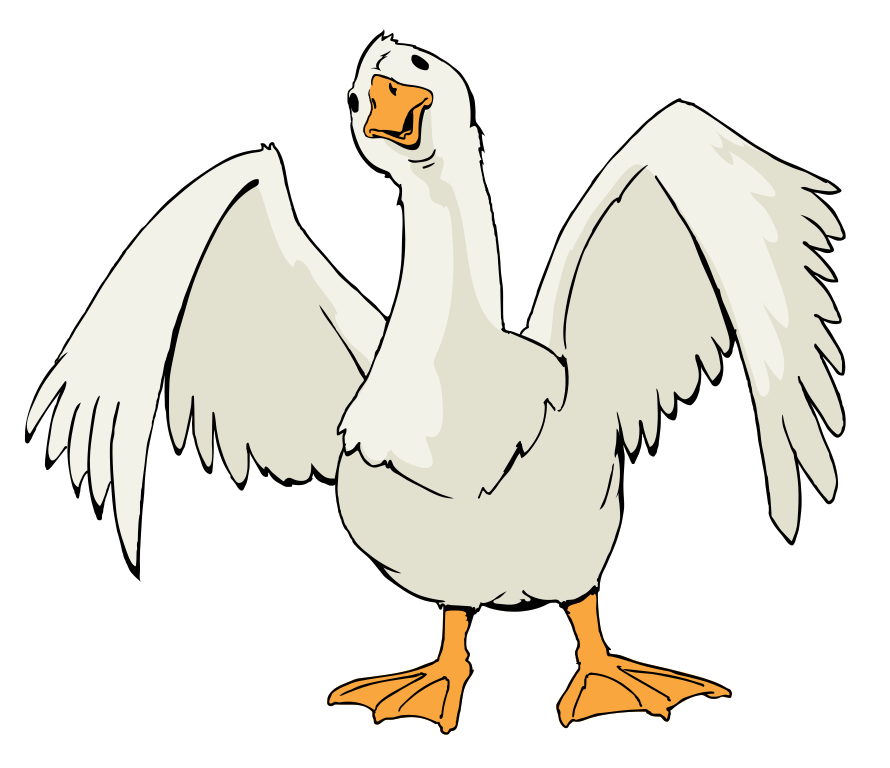 Cool Goose Clipart.