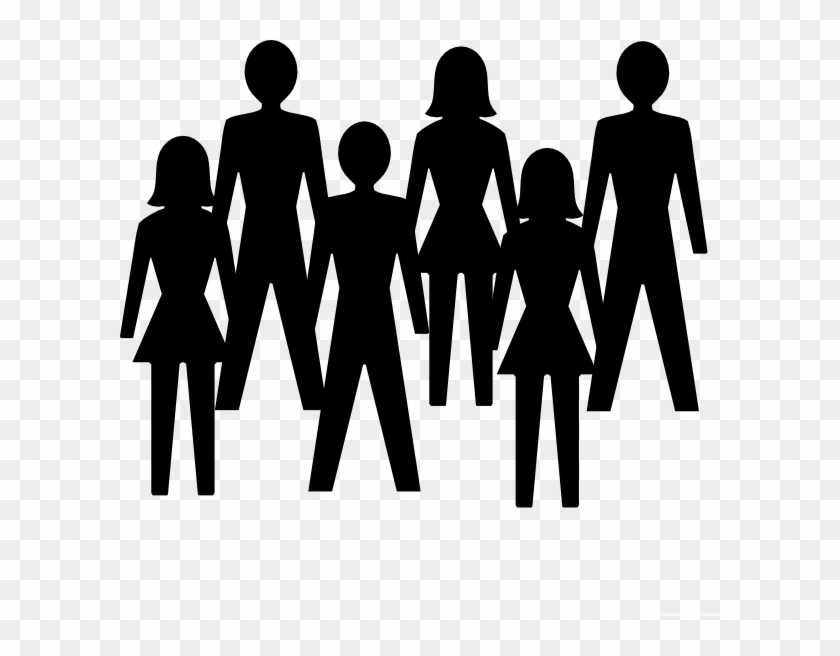 Group Of People Black And White Clipart & Free Clip Art Images.