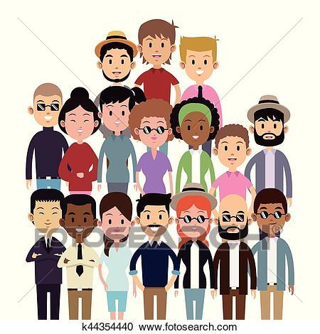 Clipart group of people 4 » Clipart Portal.