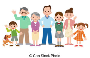 clipart of a happy family #6