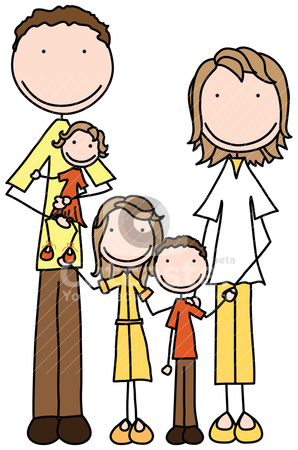 clipart of a happy family #3