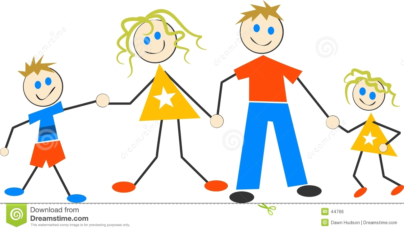 clipart of a happy family #1