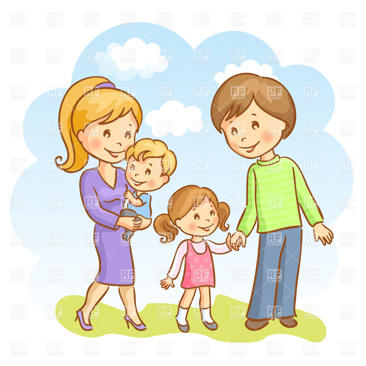 clipart of a happy family #15