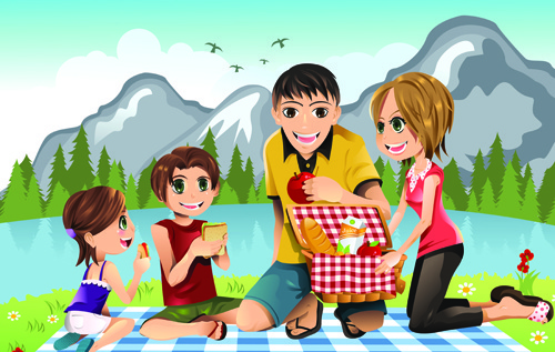 clipart of a happy family #13
