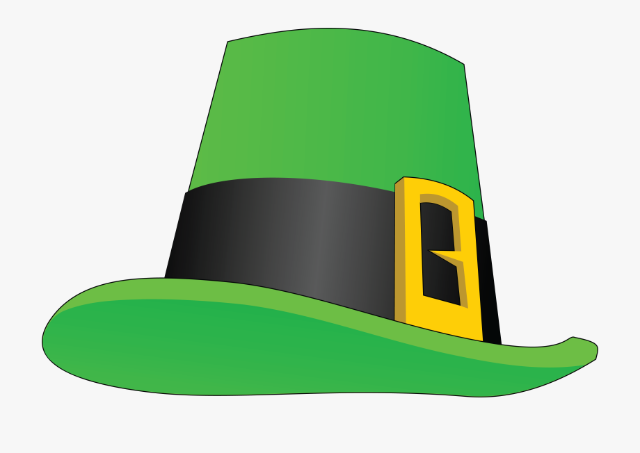 Free Clipart Of A St Paddys Day Leprechaun Hat.