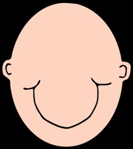 Plain Peach Head Clip Art at Clker.com.