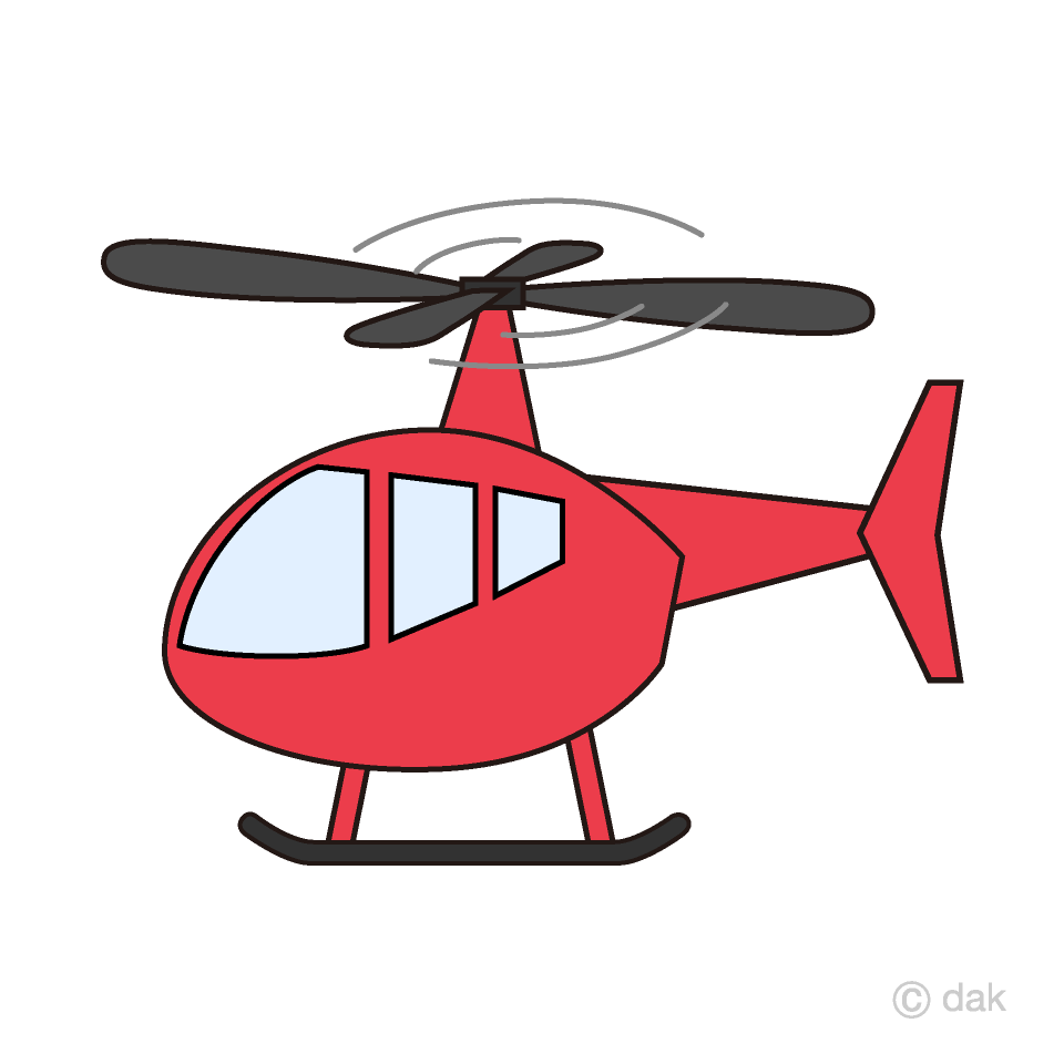 Free Red Helicopter Clipart Image|Illustoon.