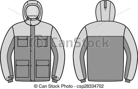 Vector Clipart of Work jacket.