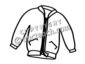 Jacket Clipart Black And White.