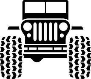 Jeep clip art for cup inserts and iron on transfers.